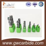 Vlak carbide en de Molens 4 Fluiten HRC 50 60 van het Eind van de Neus van de Bal