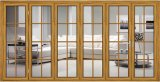 Подгонянная дверь складчатости высокия уровня безопасности прочная алюминиевая стеклянная