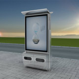 Cadre léger à énergie solaire de panneau d'affichage de publicité de DEL