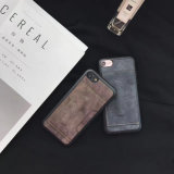 Cassa di cuoio dell'unità di elaborazione della cassa del telefono delle cellule per il iPhone