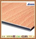 El panel compuesto de aluminio material de la decoración de madera del color