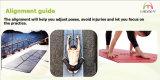Non-Slip циновка йоги PU с изготовленный на заказ лазером логоса и выравнивания вытравила