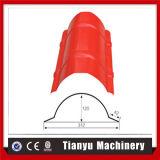 Galvanisierte glasig-glänzende Farben-Stahldachridge-Schutzkappen-Rolle, die Maschine bildet