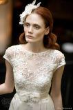 2017 A - linha vestido de casamento nupcial Z002 do laço