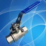 válvula de esfera rosqueada Pn63 do aço 2PC inoxidável DIN3202-M3
