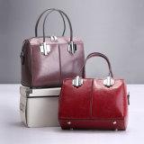 Form-echtes Leder-Oberseite-Griff-Schulter-Handtaschen-Frauentote-Beutel