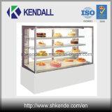 Congelador comercial de la visualización de la panadería de la dimensión de una variable vertical