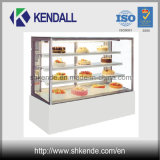 Congelador comercial do indicador da padaria da forma ereta
