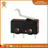 Micro- van het Lassen van de Hefboom van Lema Kw12-56 5A Gebogen Eind MiniSchakelaar
