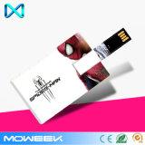 Lecteur flash USB par la carte de crédit de clé USB faite sur commande de logo de promotion