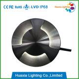Aço 304 inoxidável 3 sentidos que iluminam a luz do diodo emissor de luz Inground