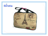 Saco de couro do estilo retro, saco da torre de Paris
