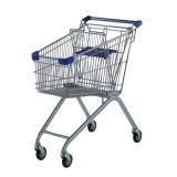 Handcart do supermercado, trole de compra, trole da mão