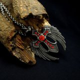 Zircon Cross Men Collier Pendentif Accessoires de mode Titane Acier