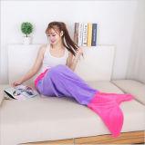 柔らかいボアファブリック身に着け抵抗の人魚ポリエステル毛布