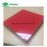 MDF UV da melamina da cor vermelha para o uso da decoração