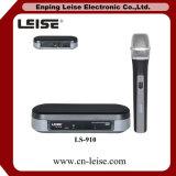 Sistema senza fili tenuto in mano professionale del microfono di frequenza ultraelevata di Ls-910 singolo Mic