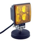 Mini luz blanca ambarina agrícola brillante estupenda del trabajo LED del color 12W