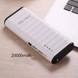 La Banca portatile di potere del USB di capacità elevata 20000mAh con l'accenditore del LED