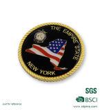 Moneda militar plateada oro modificada para requisitos particulares del recuerdo del borde de la cuerda