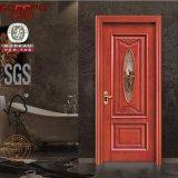 Porte en verre en bois solide de garniture intérieure de peinture blanche de 7 fois (GSP3-016)