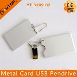 Cartão de crédito promocional personalizado de metal USB Flash Drive (YT-3101-03)