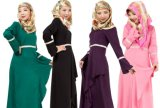 Hotsaleイスラム教の均等になるAbayasの服のマキシの普及した服