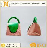 Côté de pièce de monnaie en céramique de sac à main pour la décoration à la maison