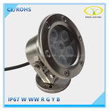 Indicatore luminoso subacqueo caldo della fontana di vendite IP67 6W LED