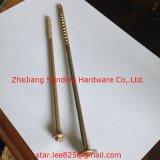 C1022 Yellow Zingué Harden 200 mm à tête hexagonale Vis autotaraudeuse
