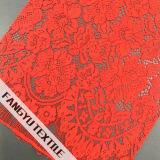 Tessuto nuziale di nylon del merletto del bello cotone del fiore