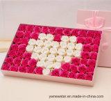 Романтичная коробка подарка цветка мыла 77 PCS Rose для любовника