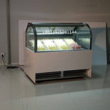Popsiceのアイスクリームの表示フリーザー