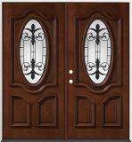 Double porte d'acajou avant à la maison d'entrée principale (GSP1-037)