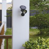 Лужайка черноты ABS фары солнечного света напольные PIR Senson обеспеченностью/свет стены СИД для сада