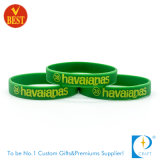 Sport Recessed Coloring Silicone Promotional Wristband at Factory Price