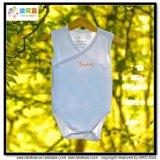 明白な青色児の服装の着物様式の赤ん坊ボディ