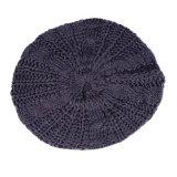 女性の冬暖かいねじれによって編まれるケーブルの方法帽子の帽子のアクセサリのベレー帽の帽子(HW102)