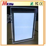Publicidad acrílico LED Caja ligera delgada magnética con Open