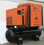 8bar 7bar Compressoren van de Koelkast van het Type van Schroef van de Compressor van de Lucht 10bar de Dak Opgezette 300L Tank Gebruikte