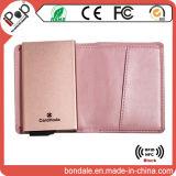 Бумажник случая обеспеченностью кредитной карточки перемещения алюминиевый передний карманный