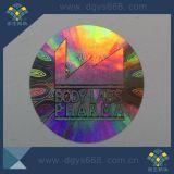 etiqueta da segurança da forma redonda do holograma do laser 3D