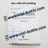Boîte de revêtement UV avec effet gaufré pour Alpha Pharma