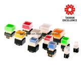 Загоранный многодневным путем переключатель кнопка имеет или однократно или запирать на задвижку конструкции