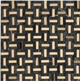 Acero inoxidable mezclado del estilo del negro de la piedra del mosaico de lujo del mármol