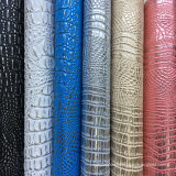Silbernes Silber Kurbelgehäuse-Belüftungfaux-Krokodil-Leder