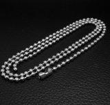 Acier inoxydable à chaînes perlé du collier 316L d'accessoires de mode