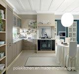 Gabinete de cozinha de madeira do PVC da melamina 2017 modular nova