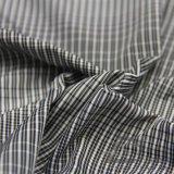 Agua y de la ropa de deportes tela negra tejida chaqueta al aire libre Viento-Resistente 100% del filamento del hilado del poliester del telar jacquar de la tela escocesa abajo (FJ019)