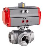 ISO5211 기준을%s 가진 32mm ~400mm 압축 공기를 넣은 액추에이터